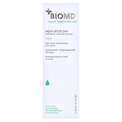 Biomed Aqua Detox 24STD Feuchtigkeitspflege 50 Milliliter - Rückseite