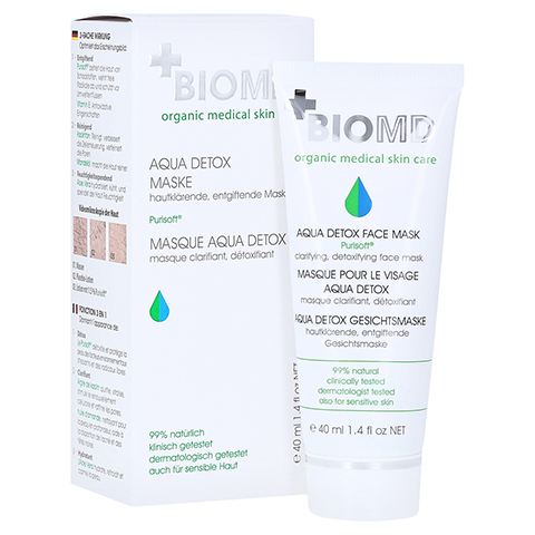 Biomed Aqua Detox Gesichtsmaske 40 Milliliter