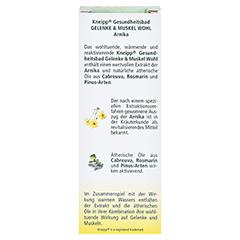 KNEIPP GESUNDHEITSBAD Gelenke & Muskel Wohl Arnika 100 Milliliter - Rückseite