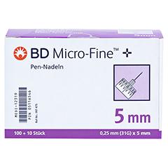 BD MICRO-FINE+ 5 Pen-Nadeln 0,25x5x110 mm 110 Stück - Vorderseite