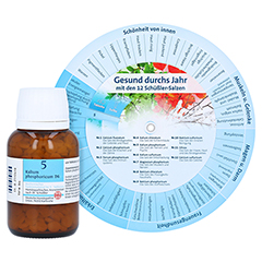 BIOCHEMIE DHU 5 Kalium phosphoricum D 6 Tabletten + gratis DHU Schüßler-Drehscheibe 420 Stück N3