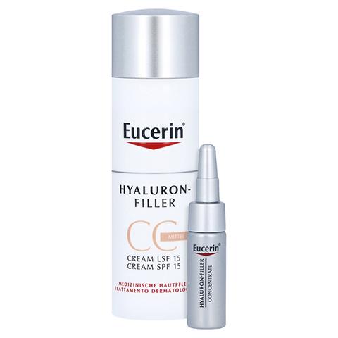 Eucerin Hyaluron-Filler CC Cream Mittel + gratis Eucerin Hyaluron Filler Serum 5 ml 50 Milliliter