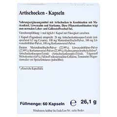 Artischocke Kapseln 60 Stück - Rückseite