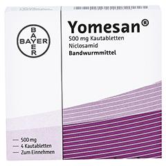 YOMESAN 500 mg Kautabletten 4 Stück - Vorderseite