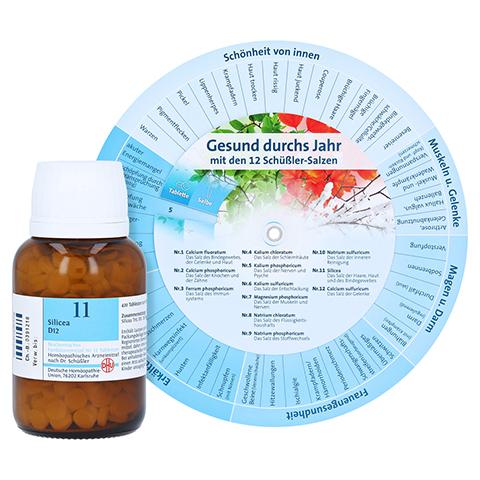 BIOCHEMIE DHU 11 Silicea D 12 Tabletten + gratis DHU Schüßler-Drehscheibe 420 Stück N3