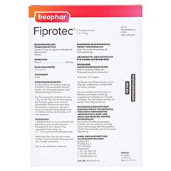 FIPROTEC 67 mg Lösung z.Auftr.f.kleine Hunde 3x0.67 Milliliter - Rückseite