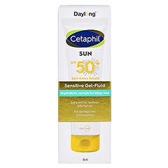 CETAPHIL Sun Daylong SPF 50+ sens.Gel-Fluid Gesich 50 Milliliter - Vorderseite