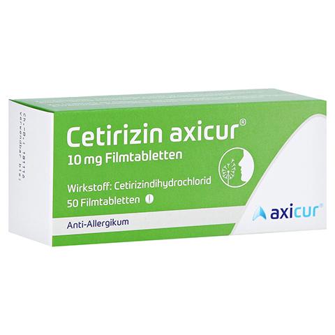 Cetirizin axicur 10mg 50 Stück N2