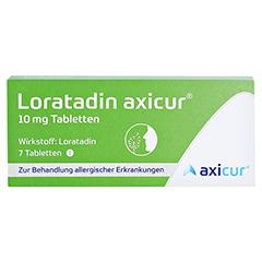Loratadin axicur 10mg 7 Stück - Vorderseite