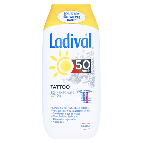LADIVAL Tattoo Sonnenschutz Lotion LSF 50 200 Milliliter