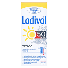 LADIVAL Tattoo Sonnenschutz Creme LSF 50 50 Milliliter - Vorderseite