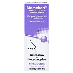 Momekort 50Mikrogramm/Sprühstoß Nasenspray 18 Gramm - Vorderseite