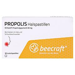 BEECRAFT Propolis Halspastillen 30 Stück - Vorderseite