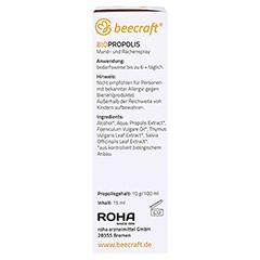 BEECRAFT Propolis Mund- und Rachenspray 15 Milliliter - Linke Seite