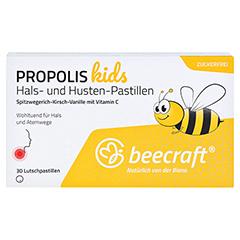 Beecraft Propolis Hals- und Husten-Pastillen 30 Stück - Vorderseite