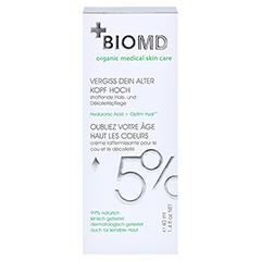 Biomed Vergiss Dein Alter Kopf Hoch Hals- und Dekolleté-Pflege 40 Milliliter - Vorderseite