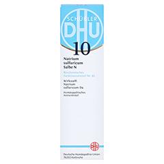 BIOCHEMIE DHU 10 Natrium sulfuricum N D 4 Salbe 50 Gramm N1 - Rückseite