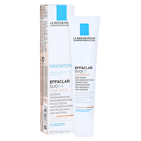 ROCHE-POSAY Effaclar Duo+ Unifiant Creme mittel 40 Milliliter