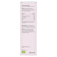 Aloe Vera SAFT 100% Bio Direktsaft 330 Milliliter - Rückseite