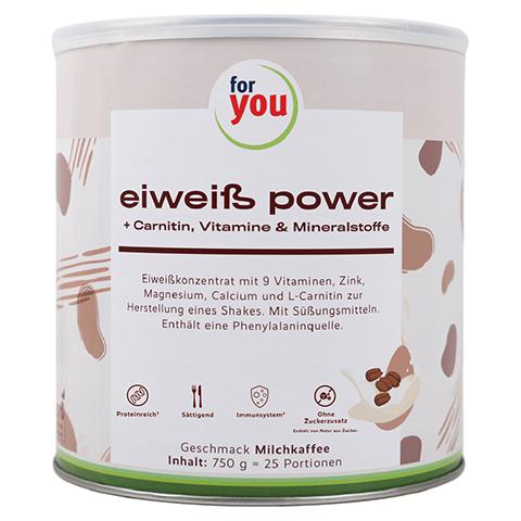 FOR YOU eiweiß power Milchkaffee Pulver 750 Gramm