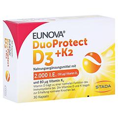 EUNOVA DuoProtect D3+K2 2000 I.E./80 µg Kapseln 30 Stück