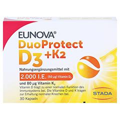 EUNOVA DuoProtect D3+K2 2000 I.E./80 µg Kapseln 30 Stück - Vorderseite