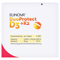 EUNOVA DuoProtect D3+K2 4.000 I.E. 90 Stück - Oberseite