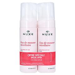 NUXE Mizellen-Reinigungsmousse mit Rosenblüten 2x150 Milliliter