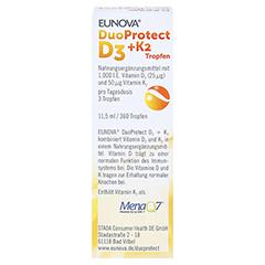Eunova Duoprotect D3+k2 1000 I.E./50 µg Tropfen 11.5 Milliliter - Rückseite