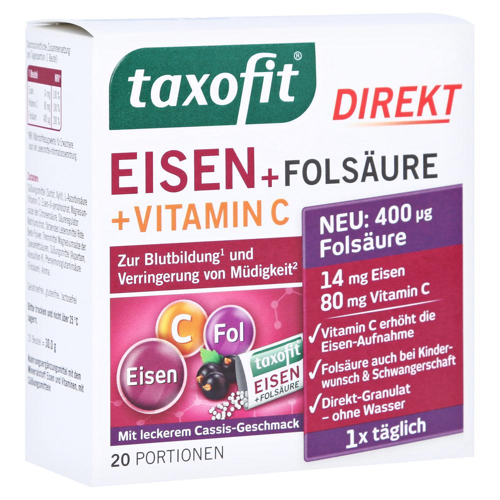 taxofit-eisen-folsaure-direkt-granulat-20-stuck