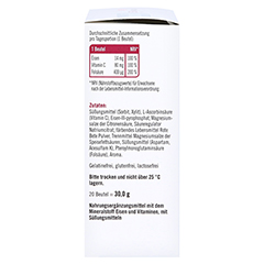 Taxofit Eisen+folsäure Direkt-granulat 20 Stück - Linke Seite