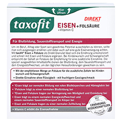 Taxofit Eisen+folsäure Direkt-granulat 20 Stück - Rückseite