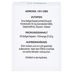 CBD 10% Adrexol Kapseln 60 Stück - Rückseite