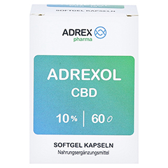 CBD 10% Adrexol Kapseln 60 Stück - Vorderseite