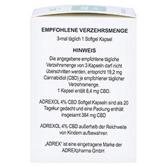 CBD 4% Adrexol Kapseln 60 Stück - Linke Seite