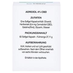 CBD 4% Adrexol Kapseln 60 Stück - Rückseite