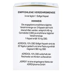 CBD 10% Adrexol Kapseln 60 Stück - Linke Seite