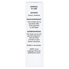 CBD 4% ADREXOL Tropfen 10 Milliliter - Rückseite
