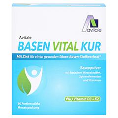 BASEN VITAL KUR plus Vitamin D3+K2 Pulver 60 Stück - Vorderseite