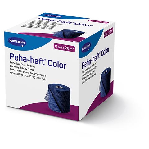 Peha-haft Color Fixierbinde latexfrei 8 cmx20 m blau 1 Stück