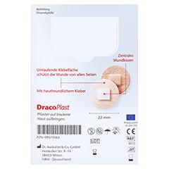 Dracoplast Soft Pflaster 2,2 cm rund hautfarben 20 Stück - Rückseite