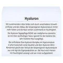 HYALURON TAGESPFLEGE riche Creme im Tiegel 50 Milliliter - Rückseite