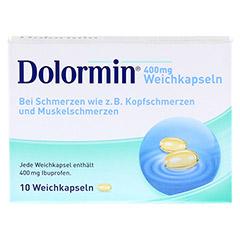 DOLORMIN 400 mg Weichkapseln 10 Stück N1 - Vorderseite