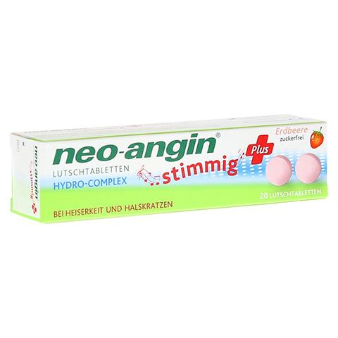 NEO ANGIN stimmig Plus Erdbeer Lutschtabletten 20 Stück