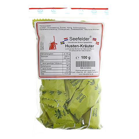 SEEFELDER Husten-Kräuter Bonbons KDA 100 Gramm