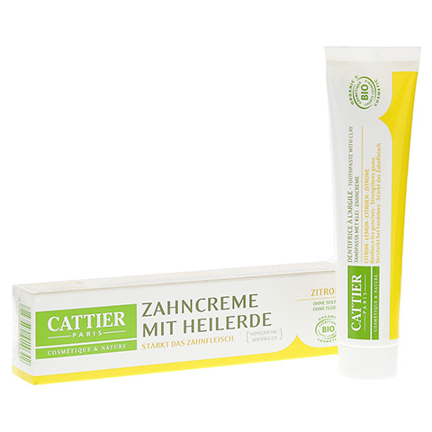 Cattier Zahncreme Heilerde & Zitrone 75 Milliliter