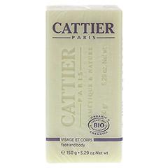CATTIER Heilerde Seife trockene und sensible Haut 150 Gramm - Vorderseite