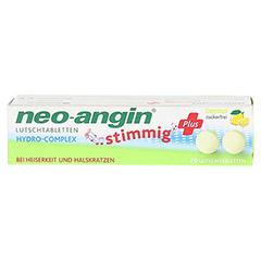 NEO ANGIN stimmig Plus Lemon Lutschtabletten 20 Stück - Vorderseite