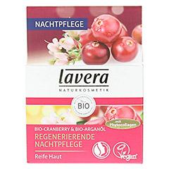 LAVERA regenerierende Nachtpflege Cranberry Creme 50 Milliliter - Vorderseite