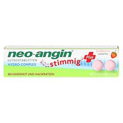 NEO ANGIN stimmig Plus Erdbeer Lutschtabletten 20 Stück - Vorderseite